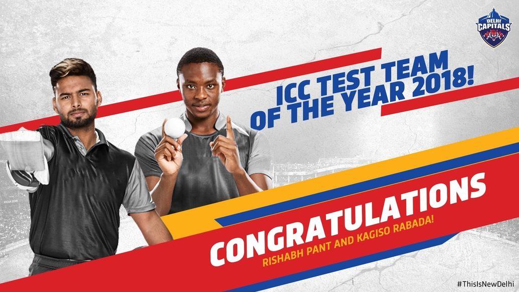 Rishabh Pant, Kagiso Rabada feature in ICC Test team of the year